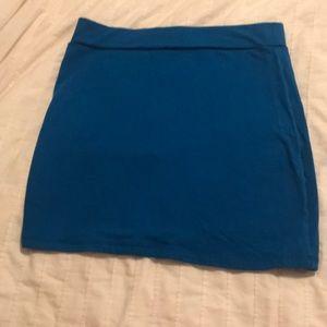 Blue cotton stretch skirt